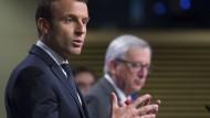 Macron fordert bei Juncker soziales Europa