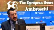 Italiens Innenminister Matteo Salvini auf einem Wirtschaftsforum in Cernobbio in Italien im September 2018