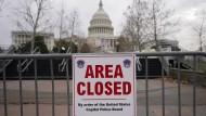 Der Bereich um das Kapitol in Washington ist weiträumig abgesperrt.