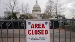 Bewaffneter Verdächtiger vor Kapitol in Washington festgenommen