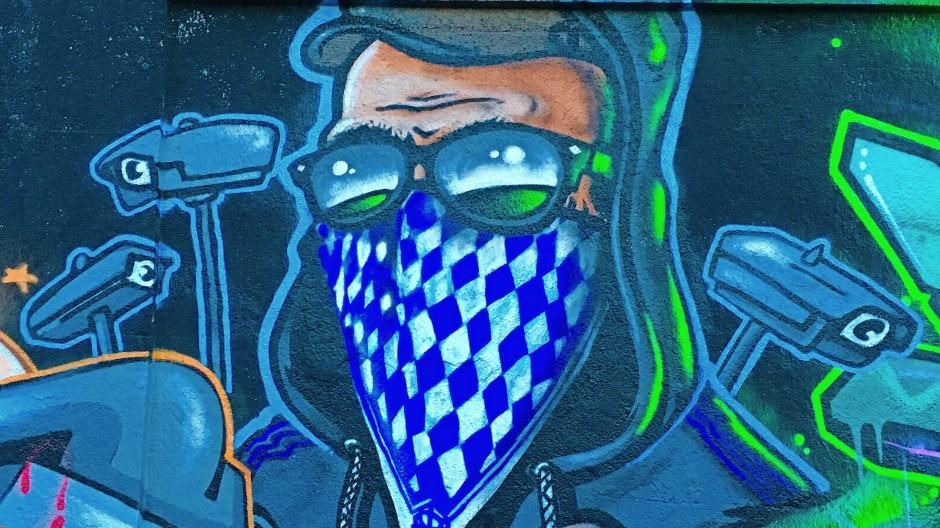 Ein Wandgemälde in München