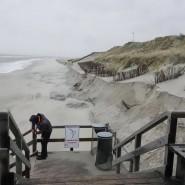 Gesperrt: die Strandtreppe am Weststrand in List auf Sylt