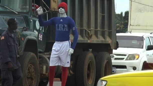 Menschliche Werbetafeln in Liberia