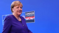 Angela Merkel beim NATO-Gipfel in London