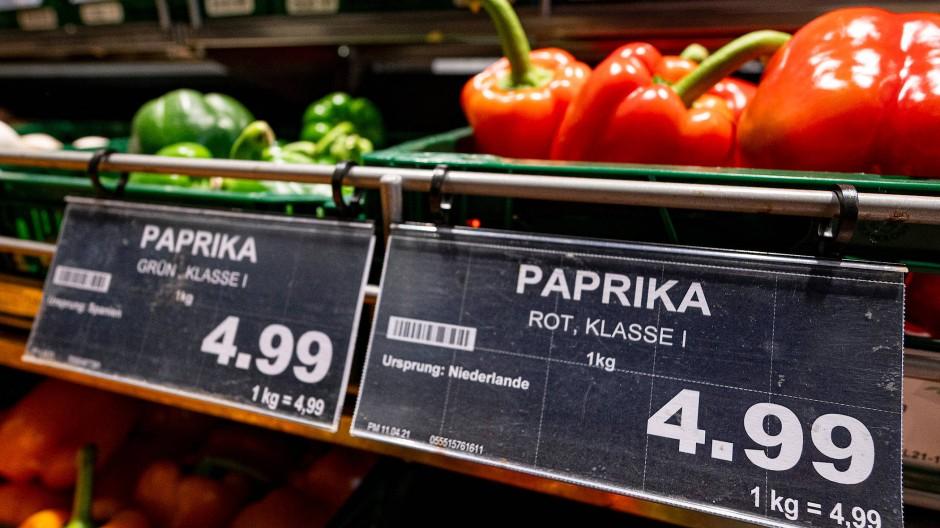 Die Preise in deutschen Supermärkten haben bereits deutlich angezogen.