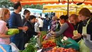 Der Markt auf der Konstablerwache geht auf das Erntedankfest zurück.