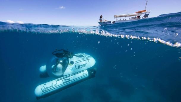 Uber taucht jetzt auch zum Great Barrier Reef