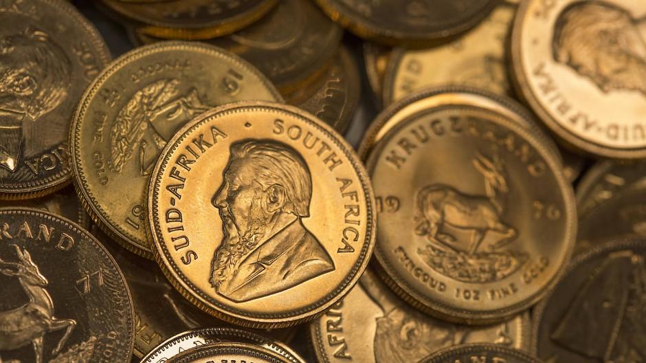 Krügerrand als Mangelware: Solange die Corona-Eindämmung anhält, kann Südafrika keine Münzen liefern.