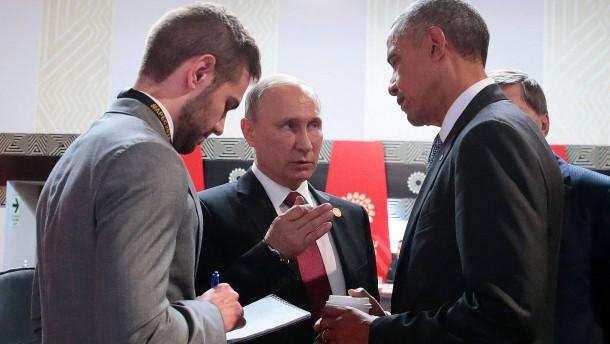 Obamas eisiger Abschied von Putin