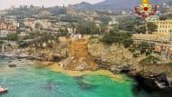 Ort des Unglücks: Der ligurische Küstenort Camogli verliert einen Teil seines Friedhofs an das Meer.