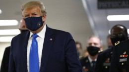 Trump erstmals mit Maske in der Öffentlichkeit