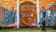 Ein Wandgemälde in Baltimore zeigt den in Polizeigewahrsam gestorbenen Freddie Gray.