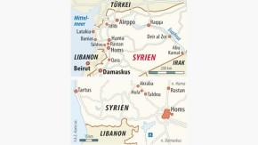 Infografik / Karte / Syrien Homs Taldou