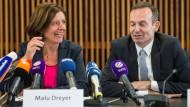 Gelöste Atmosphäre: SPD-Ministerpräsidentin Malu Dreyer und der FDP-Landesvorsitzende Volker Wissing vor wenigen Tagen in Mainz