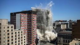 Spektakuläre Gebäudesprengung in Johannesburg