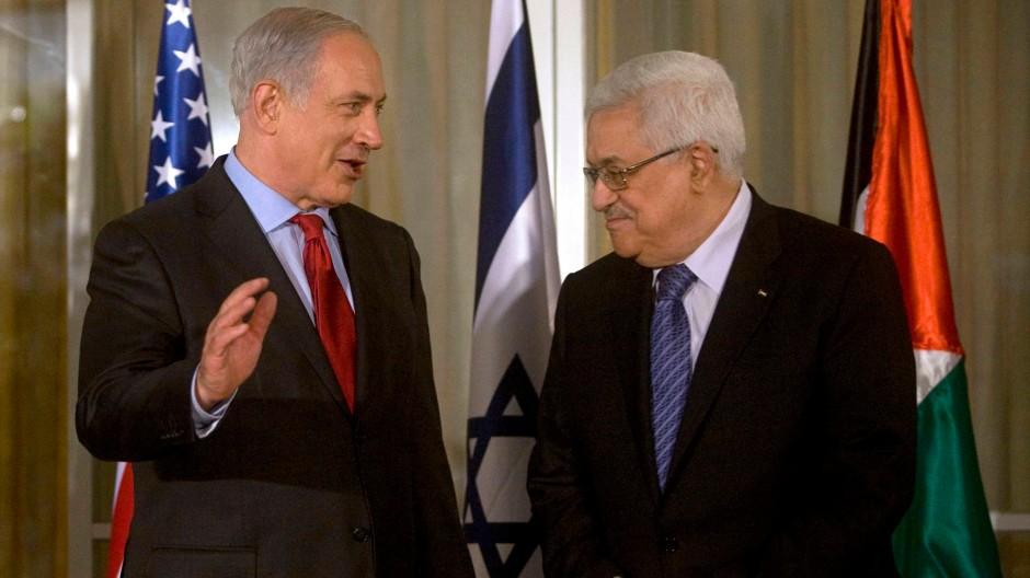 Netanjahu und Abbas im September 2010 bei gemeinsamen Gesprächen in Jerusalem. Heute herrscht diplomatischer Stillstand