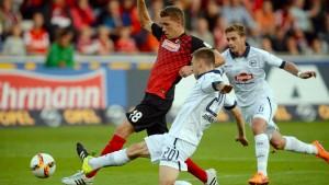 Rückschlag für Freiburg gegen Bielefeld