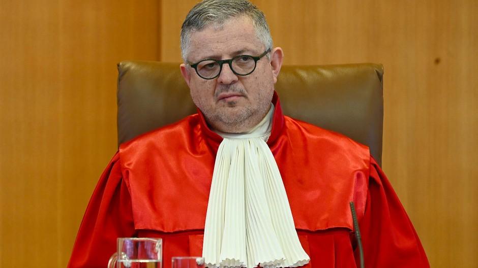 Der Berichterstatter im EZB-Verfahren, Peter Huber, am 26. Februar 2020.
