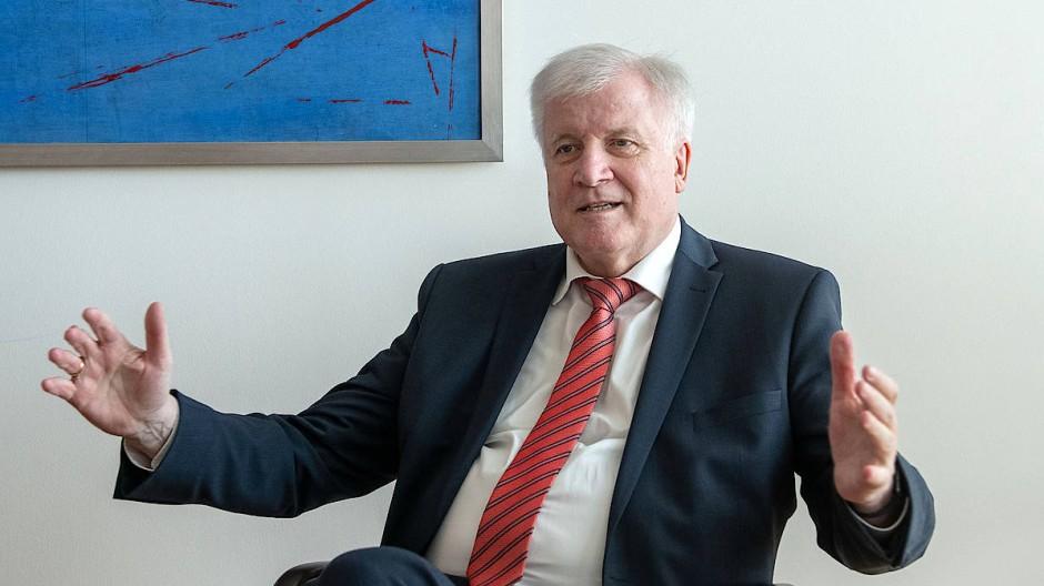 Horst Seehofer beim Interview mit der F.A.Z. im Bundesinnenministerium in Berlin