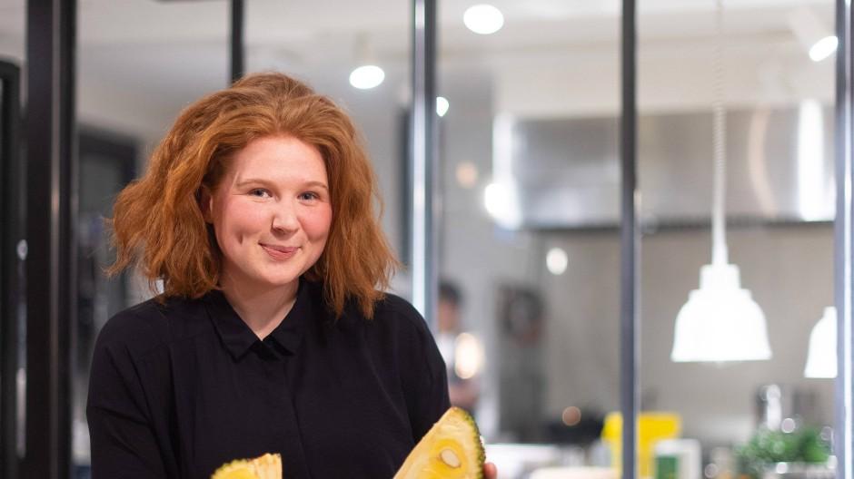 """Verena Bahlsen im März bei einem Pressedinner zur Vorstellung von Jackfrucht-Gerichten im Restaurant """"Hermann's"""" in Berlin"""