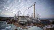 Und wieder ein Neubau: Baustelle im rheinland-pfälzischen Nieder-Olm