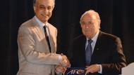 Scheich Salman und Fifa-Präsident Blatter (Bild aus dem Jahr 2013)
