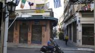 Im Athener Viertel Monastiraki trafen beide Gruppen aufeinander.