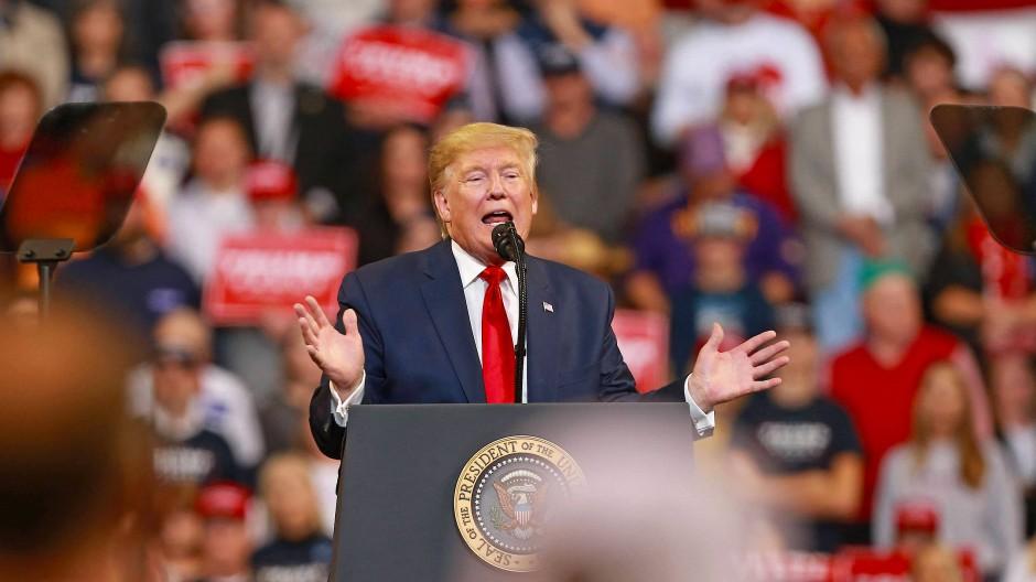 Immerwährender Wahlkampf: Trump am Donnerstag in Bossier City, Louisiana