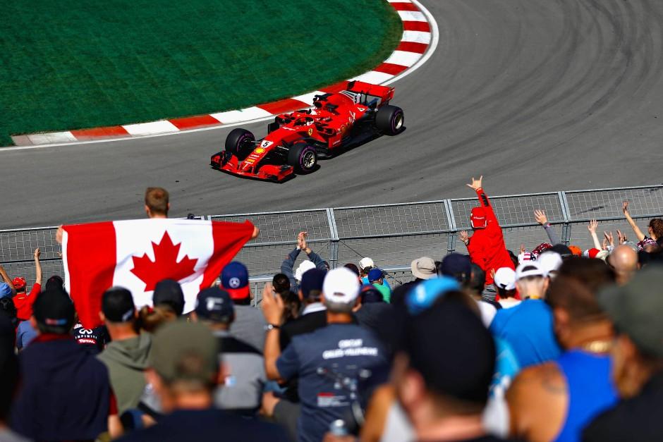 Es läuft rund: Vettel sicherte sich im Ferrari den besten Startplatz für den Großen Preis von Kanada.