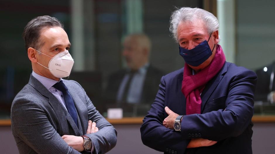 Schwierige Debatte: Maas und Asselborn am Montag beim Außenministertreffen in Brüssel
