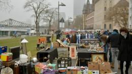 Nicht mehr Platz für den Flohmarkt am Mainufer
