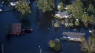 Überflutete Häuser in den Carolinas
