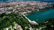Blick auf den Maschsee und die Südstadt von Hannover