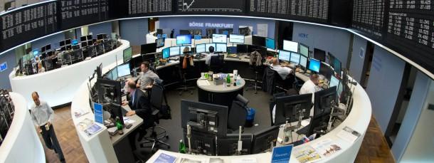 In der Korrekturphase: Aktienhändler an der Frankfurter Börse