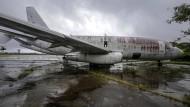 """Das von der GSG9 befreite ehemalige Lufthansa-Flugzeug """"Landshut"""" steht derzeit noch in Brasilien."""