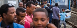 Afrika im Umbruch: Straßenbahn in Äthiopiens Hauptstadt Addis Abeba