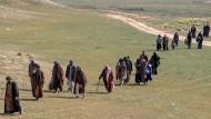 Die verbliebenen Anhänger des IS sind auf der Flucht vor der Offensive der Syrischen Demokratischen Kräfte.