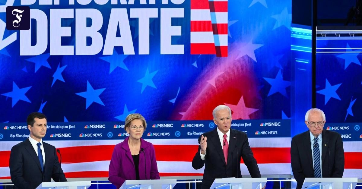 TV-Debatte der US-Demokraten: Joe Biden kämpft um seinen Status