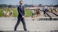 Bundesaußenminister Heiko Maas (SPD) besucht das ehemalige deutsche Konzentrationslager Auschwitz-Birkenau.