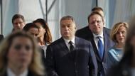 Sichtlich aufgebracht: Ungarns Ministerpräsident Viktor Orbán
