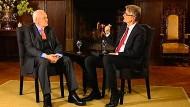 Elmar Theveßen im Gespräch mit Roman Herzog im April 2013