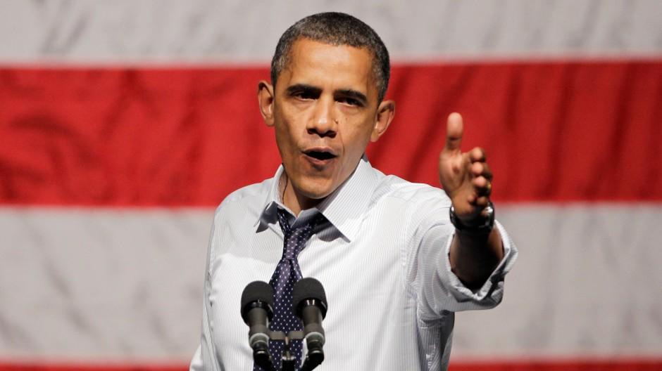 Unwürdiges Verhalten? Präsident Barack Obama bei einem Wahlkampfauftritt in Oakland, Kalifornien