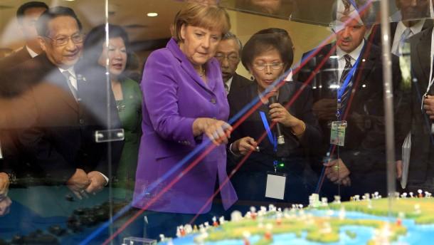 Merkel für südostasiatische Freihandelszone