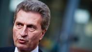 Der EU-Kommissar für Energie, Günther Oettinger, setzt weiterhin auf Kohle.