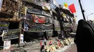 Trauer in Bagdad: Erst am Sonntag waren bei einem Selbstmordanschlag im belebten Geschäftsviertel Karrada im Zentrum mindestens 292 Menschen getötet worden.