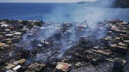 Mehrere Verletzte bei Großbrand vor Honduras