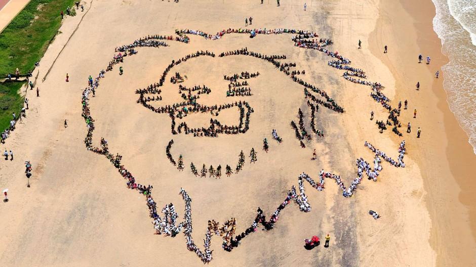 Brüllen, nicht beißen: Ein Protest am Strand von Durban