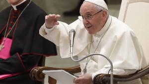 """Papst Franziskus: """"Der Herr antwortet nicht"""""""