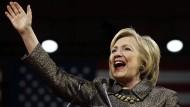 Sieht sich schon so gut wie im Weißen Haus: Hillary Clinton