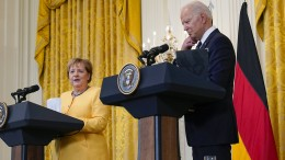 Merkel und Biden demonstrieren Geschlossenheit